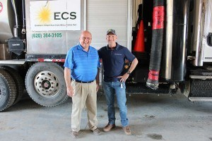 ECS CEO Bruce Bergstrom with Hydra-Flex